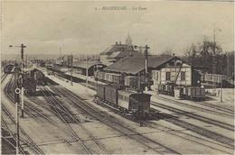 HAGUENAU (67) - La GAre - TRAIN - ED. Ch. Bergeret, Strasbourg - Haguenau