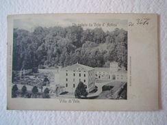 Cartolina Locale 1901 Veneto Vicenza Velo D'Astico Villa Di Velo Arsiero - Vicenza