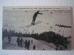 Foto Cartolina Locale 1924 Piemonte Torino Bardinecchia Skyisti Sci Animata - Italie