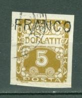 Tchécoslovaquie    Taxe  Yvert 1  Ob  B/TB  Surchargé  Franco - Postage Due