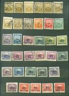 Tchécoslovaquie    Taxe Lot Entre   Yvert  1 Et 30  * Et Ob   TB - Postage Due