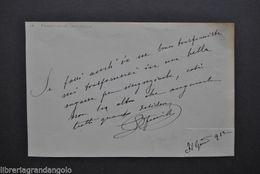 Autografi Teatro Attore Commediografo Edoardo Ferravilla Dialetto Milano 1912 - Prints & Engravings