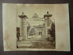 Grande Fotografia Antica Ponte Vittorio Emanuele Ingegnere F. Giordano 1858 - Fotografia