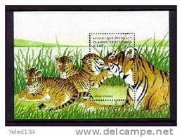 COMORES   861  MINT NEVER HINGED SOUVENIR SHEET OF ANIMALS  TIGERS  ( - Postzegels