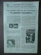 Piastrina Incendiaria Roma1941 Protezione Antiaerea Seconda Guerra Mondiale - Old Paper