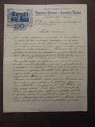 Lettera Manoscritta Emigranti Brasile Appiani Cesare Armoniche Musica 1911 - Vecchi Documenti