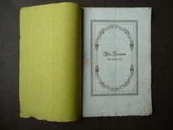 Libri Antichi Inni Orientali Alla Fecondità 1849 Nozze Malvezzi Tanari Bologna - Zonder Classificatie