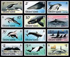 Falkland 2012 - Faune Marine, Baleines Et Dauphins  - 12v Neufs // Mnh - Falkland