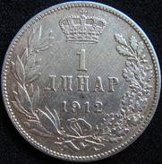 Serbia 1 Dinar 1912 VF - Silver - Serbie
