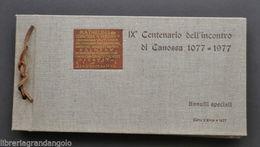 Filatelia Annullo Canossa Matilde  Enrico IV Papa Gregorio VII Centenario 1977 - Italy