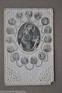 Santino Traforato Vergine Rosario Pompei Madonna Incisioni Medaglioni Gesù 1800 - Altre Collezioni