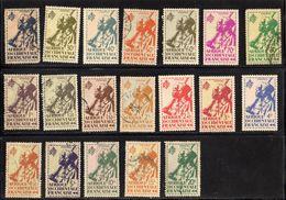 AOF Tirailleurs Sénégalais Série De 19valeurs Oblitérés N°4 à 22 - A.O.F. (1934-1959)