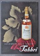 Cartone Con Sostegno Pubblicità Liquori Vecchio Brandy Fabbri Bologna 1950 - Vieux Papiers