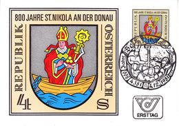 Austria 1981 800J St. Nikola An Der Donau 1v Maxicard (36475)                              ) - Maximumkaarten