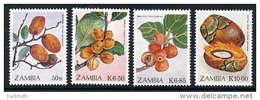 ZAMBIA 1989  Edible Fruits Set Of 4 MNH / **.  SG 596-99 - Zambia (1965-...)