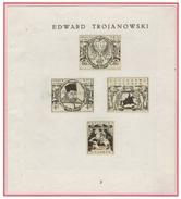 WARSZAWA - VARSOVIE - Poste Locale Epreuve Collective Projet Trojanowski N°3 - Petites Perforations D'agrafes - Neufs