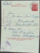 Serbie 1916. Carte-lettre Roi Pierre (Michel K17) Utilisée En Feldpost Par Un Soldat Allemand Envahisseur.  Osnabrück - Serbia