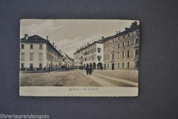 Cartoline Locale Veneto Belluno Via Garibaldi Animata 1920 - Belluno