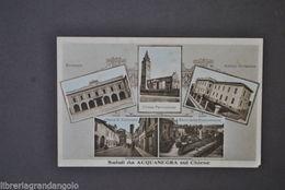 Cartoline Mantova Acquanegra Sul Chiese  Chiesa Scuola Parco Rimembranza 1926 - Mantova