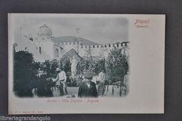 Cartoline Napoli Campania Ischia Villa Inglese Pagoda Giardini Animata 1910 - Napoli (Naples)