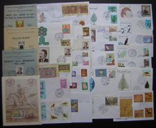 Algérie: Lot De 23 FDC+ Cartes+ Documents Philatéliques Tous Différents, Années 1970 Et 1980 (Lot 2), Voir Photos - Argelia (1962-...)