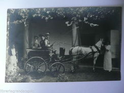 Fotografia Cartolina Calessino Animato Carrozze 1910 Medolago Adelasio - Photos