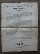 Disposizioni Polizia Feste Maschera Ordine Pubblico Soliani Modena 1857 - Vecchi Documenti