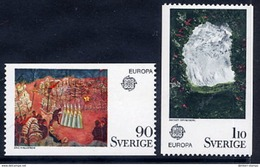 SWEDEN 1975 Europa: Paintings  MNH / **.  Michel 899-900 - Sweden