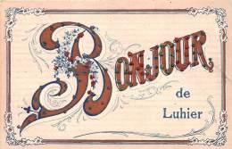 25 - DOUBS / 25446 - Luhier - Bonjour - Fantaisie - Paillettes - Otros Municipios