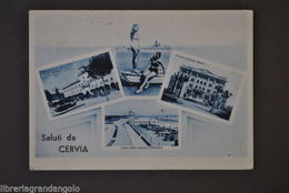 Cartoline Romagna Ravenna Cervia Mare Lungomare Grand Hotel P.zza Garibaldi 1942 - Ravenna