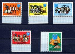 RWANDA 1972 Mi # 474 - 478 SPORT POLICE  MNH - 1970-79: Mint/hinged