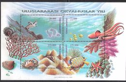 Turkey 1998 International Year Of The Ocean. Mi Bloc 34, MNH(**) - 1921-... Republik