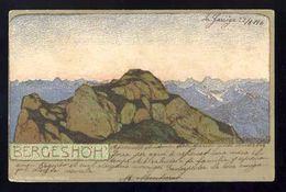Carte Postale Illustree: Ernst Liebermann: Bergeshöh. Art Nouveau (Ref. 109811) - Liebermann, Ernst