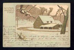 Carte Postale Illustree: Ernst Liebermann: Winter Abend Im Forst. Art Nouveau (Ref. 109812) - Liebermann, Ernst