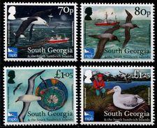 South Georgia 2017 - Faune, Oiseaux Protegés, Albatros - 4 Val Neufs // Mnh - Géorgie Du Sud