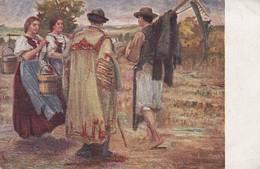 AK Künstlerkarte - Ungarn Bauern Trachten Puszta - 1918 (29783) - Europe
