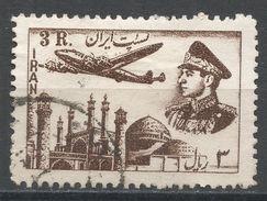 Iran 1953. Scott #C71 (U) Plane, Mosque. Avion. Mosqué. Shah - Iran