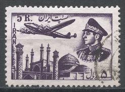 Iran 1953. Scott #C72 (U) Plane Above Mosque. Avion. Mosqué. Shah - Iran