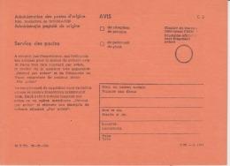 Romania Socialist Republic 1965-1989 Avis De Reception/de Paiement Postal Service Unused Cover Document - 1948-.... Republiken