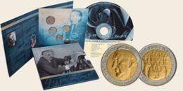 SLOVAKIA 2007. MINT SET COIN SET PERSONALITIES OF SLOVAK MUSIC GEJZA DUSIK WITH TOKEN +CD BEST OF - Eslovaquia
