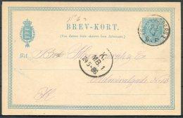 1886 Denmark 4 Ore Stationery Postcard Copenhagen - Postal Stationery