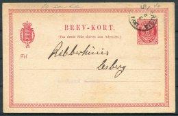 1884 Denmark 8 Ore Stationery Postcard Fredericia - Postal Stationery