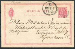 Denmark 8 Ore Stationery Postcard Copenhagen - Postal Stationery