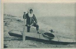 Amérique, CANADA, Kayak Pour La Chasse Au Phoques, Personnage,Scan Recto-Verso - Unclassified