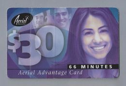Telefoonkaart.-  Télécartes. Telecard. Phonecard. The $ 30 Aerial Advantage Card. 66 Minutes. Gebruikt. 2 SCANS - Verenigde Staten