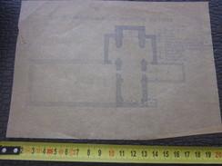 Six-Fours-les-Plages Var=>Plan Ancienne  Basilique Romaine Vieux Papiers>Planche & Plan Technique Autre Plan Sur Papier - Planches & Plans Techniques