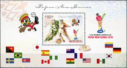 Papua New Guinea. 2016. FIFA U20 Women's Football World Cup Papua New Guinea 2016 (MNH OG **) Souvenir Sheet [DLC.ST-004 - Papouasie-Nouvelle-Guinée