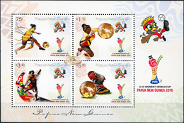 Papua New Guinea. 2016. FIFA U20 Women's Football World Cup Papua New Guinea 2016 (MNH OG **) Miniature Sheet - Papouasie-Nouvelle-Guinée