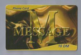 Telefoonkaart.-  Télécartes. Telecard. Phone Card. MESSAGE. 10 DM. Gebruikt. 2 SCANS - Andere