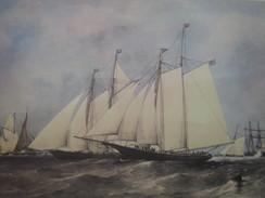 Majestueux Voiliers D'Autrefois Dauntless & Cambria En Course Transatlantique En 1870 -Art & Voile-Nautique & Maritime - Nautique & Maritime